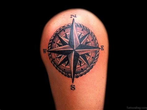 50 amazing compass tattoos on shoulder