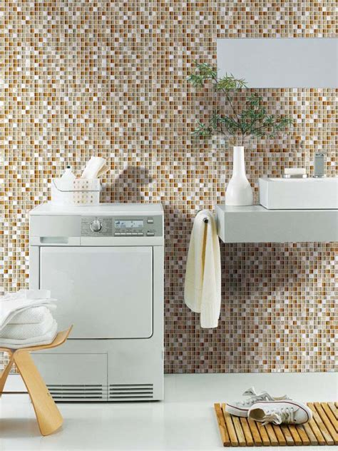Wholesale Cream Stone Mosaic Tile Sheet Square Brown