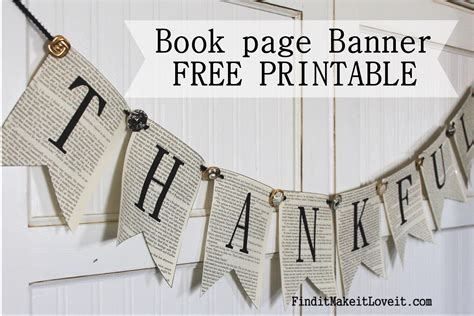 printable text banner thankful banner free printable find it make it love it