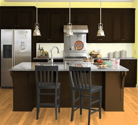 yellow kitchen dark cabinets 19 best images about walls yellow kitchen on pinterest