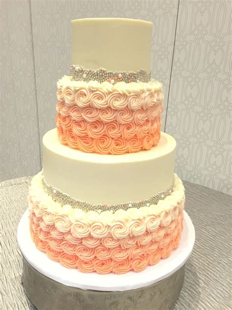 Wedding Cake Buttercream by Silver And Coral Buttercream Wedding Cake With Gorgeous
