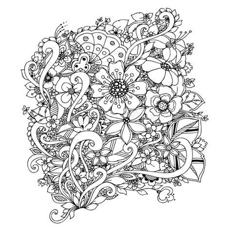 doodle pattern colouring books vector illustration of flowers zentangle doodle zenart