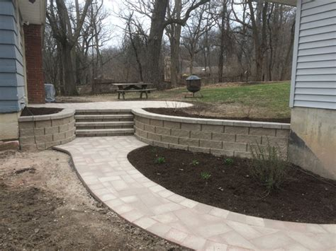 Retaining Wall Stairs Design Retaining Wall Gallery Conrades Landscape Design