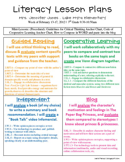 balanced literacy lesson plan template balanced literacy template weekly search results