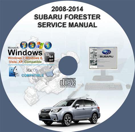subaru forester 2008 2012 2014 service repair manual on cd www servicemanualforsale com