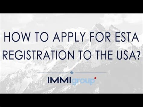How To Apply For In Usa How To Apply For Esta Registration To The Usa Updated