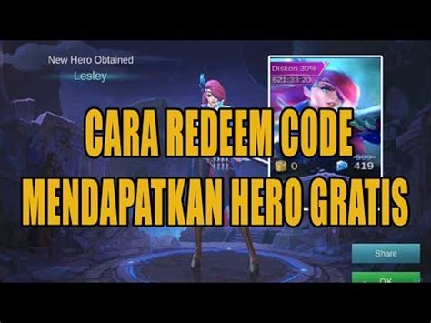 kode mobile legend baru cara redeem gift kode mobile legends