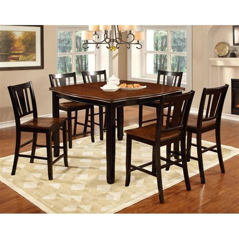 dover black cherry 5 piece counter height dining set