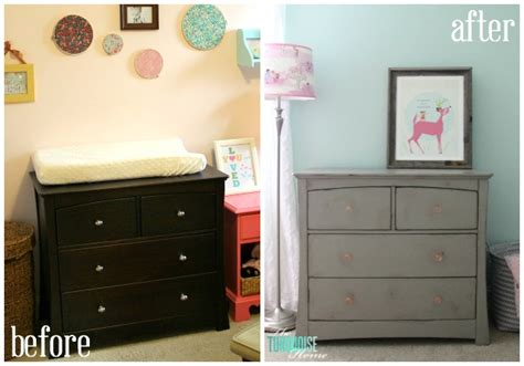 chalk paint ideas before and after gray chalk paint dresser makeover the turquoise home