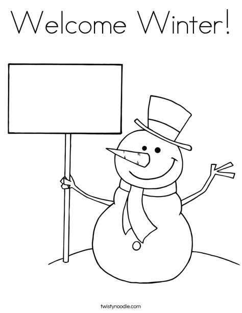 welcome coloring pages for toddlers welcome winter coloring page twisty noodle