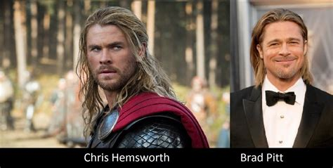 film thor brad pitt look alikes