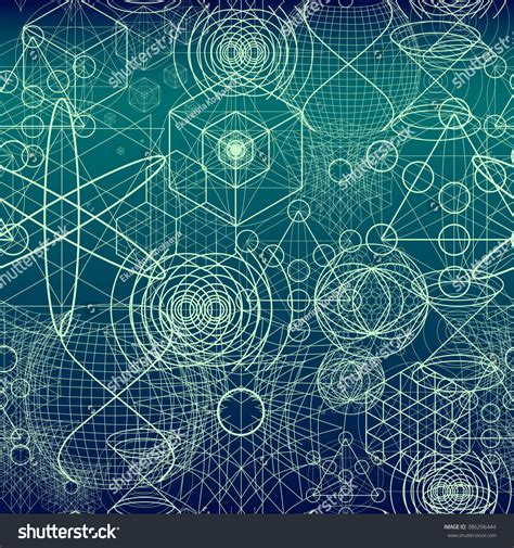 pattern theory philosophy sacred geometry symbols elements wallpaper seamless stock