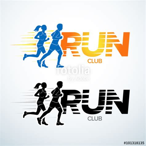 design a running logo quot run club logo template sport logotype template sports