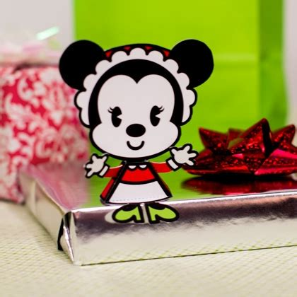 Mickey Mouse Papercraft - minnie mouse cutie disney family