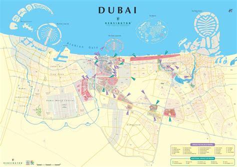 printable dubai road map dubai city map