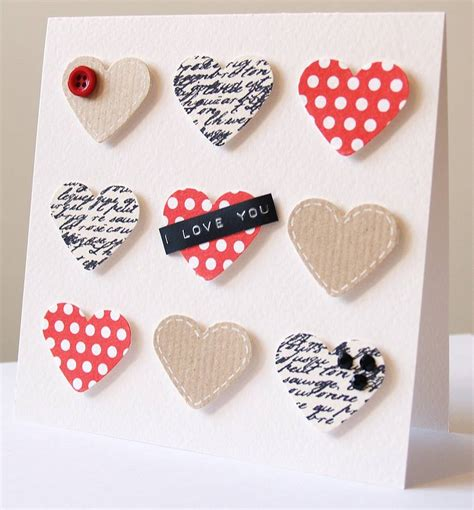 Valentines Cards Handmade - personalised handmade hearts s card by thoughts