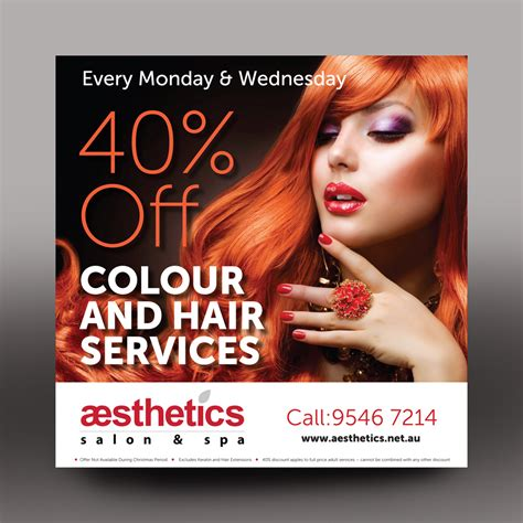 modern salon posters serious modern poster design for aesthetics salon spa by