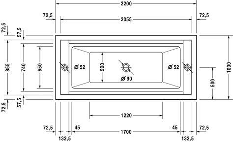 abmessungen badewanne duravit sundeck badewannen badewanne 700126 duravit