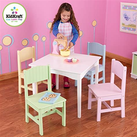 kidkraft table with pastel benches 26162 kidkraft nantucket table 4 pastel chairs kid sparkles