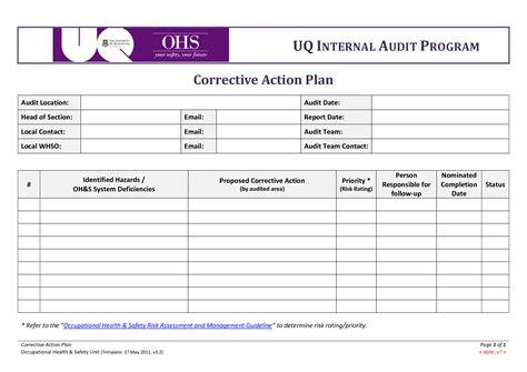 corrective plan templates corrective plan template vnzgames