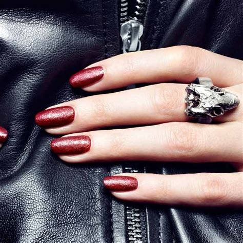 fancy leather effect nail by nails inc