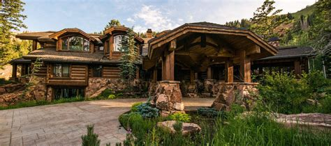 luxury listing of the day log cabin in park city utah