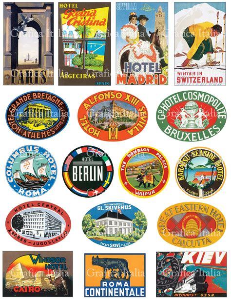 printable luggage stickers vintage 17 international travel clip art vintage luggage labels