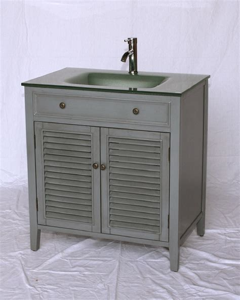 beach bathroom vanity 32 inch bathroom vanity gray cottage beach style grey