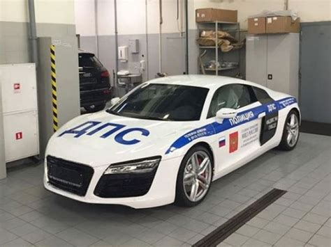 Russian Police Audi R8 Superc Cop Car   DPCcars