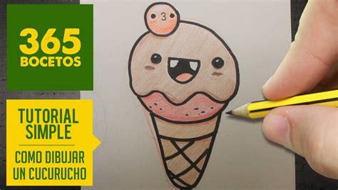 imagenes de helados kawaii para dibujar como dibujar un helado kawaii paso a paso dibujos kawaii