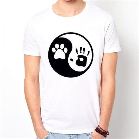 shirts for humans human yin yang print t shirt fashion casual shirt for white top