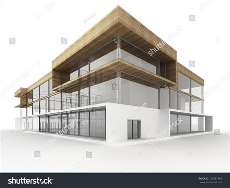 architecture plans design modern office building architects designers stock