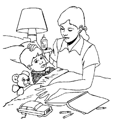 jesus heals the sick coloring page sick coloring pages