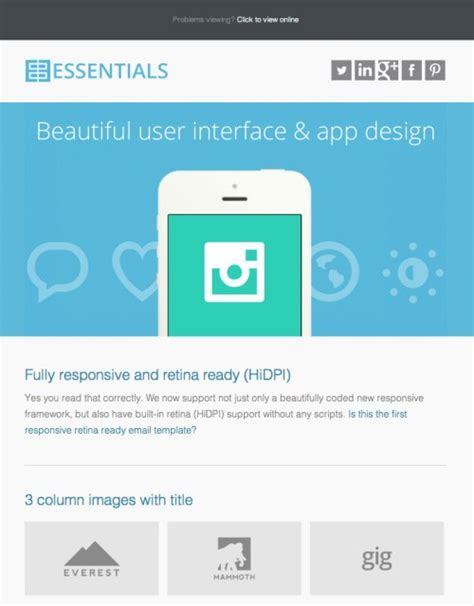 email mailer template 40 best html email newsletter templates