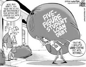 Parker Student Desk Cartoons American Student Loan Debt Crisis