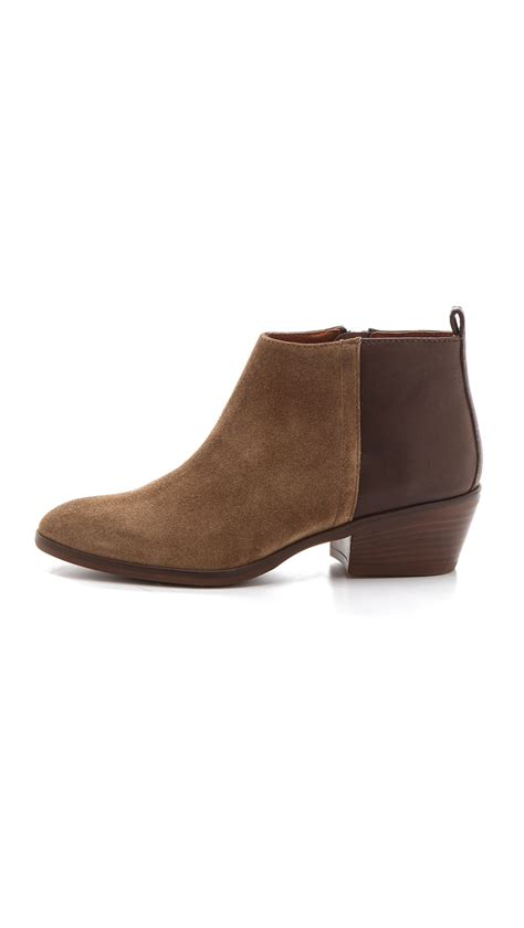 madewell low heel ankle boots in brown lyst