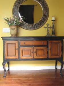 Painted Buffet Table European Paint Finishes Black Sideboard W Wood Inlay