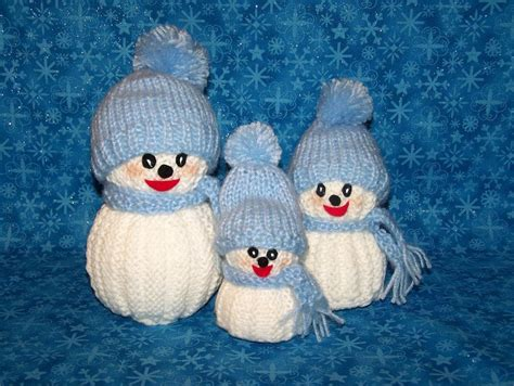 knitted snowman you to see knitted snowman family on craftsy