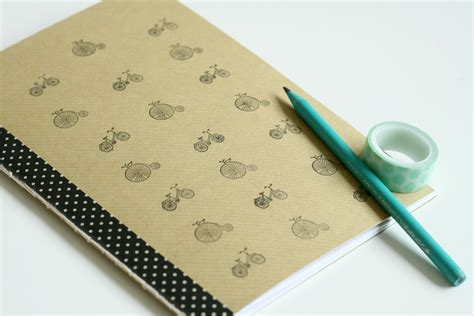 How To Make Handmade Notebooks - diy giveaway stitched bicycle notebook