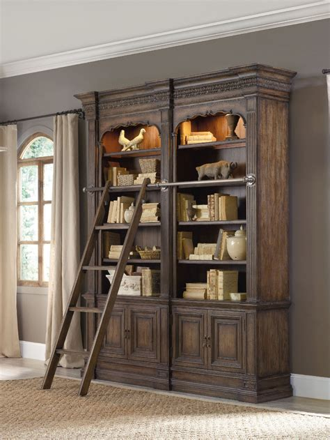 bookcase with ladder bookshelf astonishing bookcase with ladder and rail
