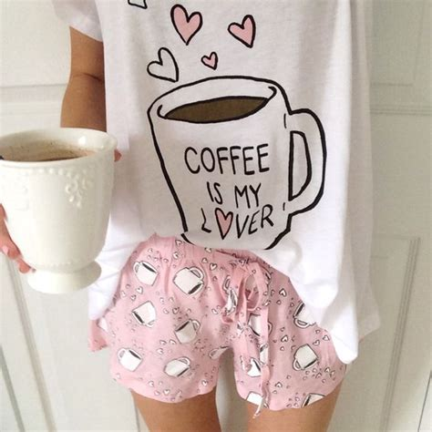 Kaos Coffee Lover Coffee Is Forever coffee lover pj set forever 21 want