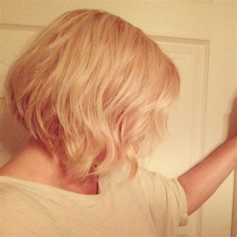 slightly angled bob slightly angled classic bob and buttery blonde hair