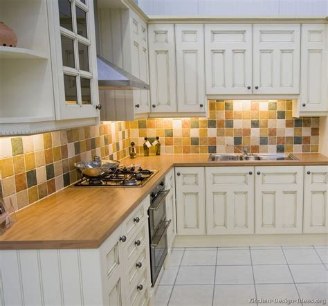 Kitchen Backsplash Ideas For White Cabinets Pictures Of Kitchens Traditional Off White Antique