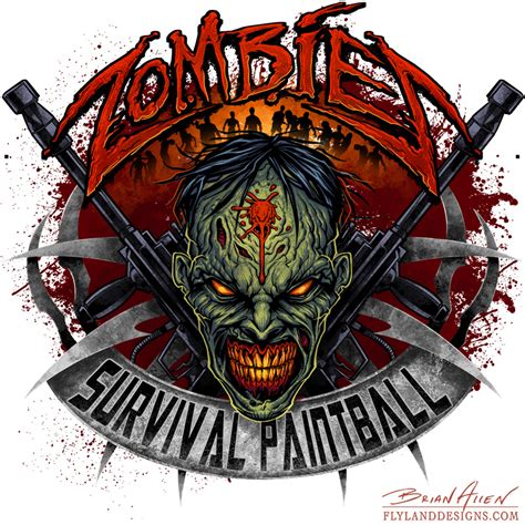 zombie paintball logo design flyland designs freelance