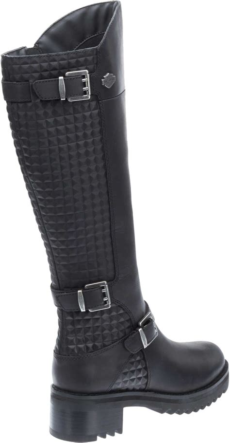 knee high motorcycle boots harley davidson women s kedvale knee high leather