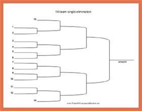 14 team double elimination bracket bio example