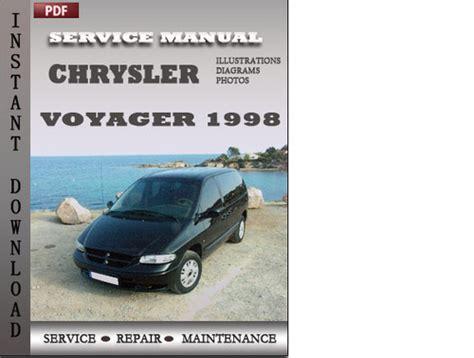 car repair manuals online pdf 1998 chrysler town country electronic throttle control chrysler voyager 1998 service repair manual download download man