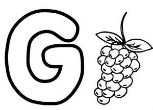 letter g worksheet coloring page gallery