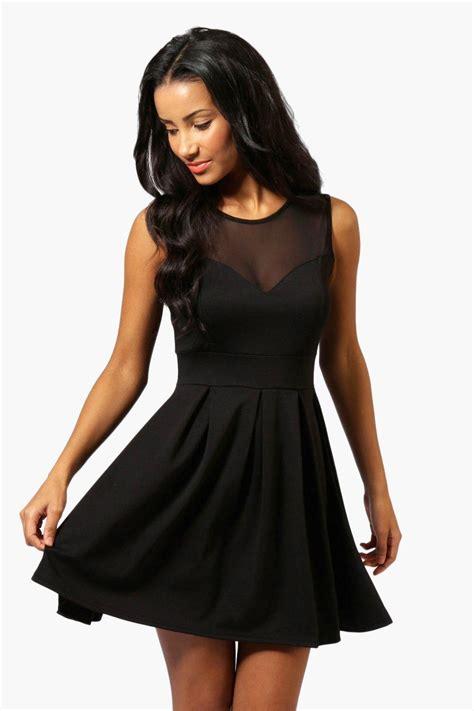 Dress Black cherry skater dress at boohoo