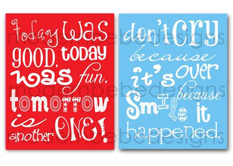 Dr Suess Birthday Quotes Two 8x10 Dr Seuss Quotes By Modern Bebe For By